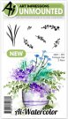 Art Impressions Cling Rubber Stamp Set - Watercolor Foliage Set 2 New