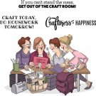 Art Impressions Cling Rubber Stamp Set - Crafty Girls
