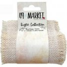 49 & Market - Burlap Ribbon Roll Cream (10cm x 1m)