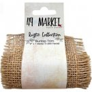49 & Market - Burlap Ribbon Roll Natural Net (10cm x 1m)