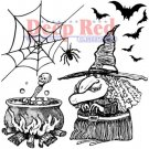 Deep Red Cling Stamp - Witches Brew