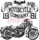 Deep Red Cling Stamp - Motorcycle Logo