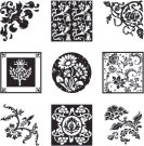 Inkadinkado Inchies Clear Stamp Set & Block - Floral Ornaments