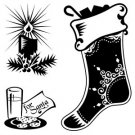 Inkadinkado Clear Stamp - Mini Stocking with Toys