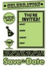 Inkadinkado Inkadinkaclings Stamps - Party Invite