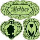 Inkadinkado Inkadinkaclings Stamp - Vintage Mothers Day