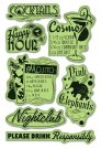 Inkadinkado Inkadinkaclings Stamps - Girls Night Out