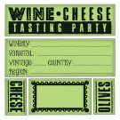 Inkadinkado Inkadinkaclings Stamps - Wine and Cheese Party