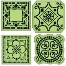 Inkadinkado Inkadinkaclings Stamps - Mosaic Tiles