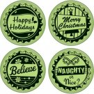 Inkadinkado Inkadinkaclings Stamps - Holiday Bottle Caps