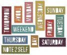 Sizzix Thinlits Die Set - Daily Words Block by Tim Holtz (12 dies)
