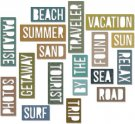 Sizzix Thinlits Die Set - Vacation Words Block by Tim Holtz (18 dies)