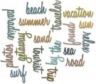 Sizzix Thinlits Die Set - Vacation Words Script by Tim Holtz (18 pack)