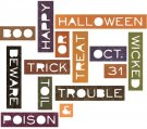 Sizzix Thinlits Die Set - Halloween Words by Tim Holtz (14 pack)
