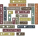 Sizzix Thinlits Die Set - Sentiment Words Thin by Tim Holtz