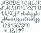 Sizzix Thinlits Die Set - Alphanumeric Script by Tim Holtz
