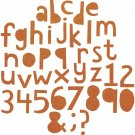 Sizzix Thinlits Die Set - Alphanumeric Cutout Lower by Tim Holtz (102 dies)