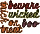 Sizzix Thinlits Die Set - Shadow Script Halloween by Tim Holtz (12 dies)
