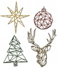 Sizzix Thinlits Die Set - Geo Christmas by Tim Holtz (4 dies)