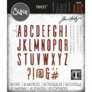Sizzix Thinlits Die Set - Alphanumeric Classic Upper by Tim Holtz (65 dies)