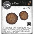 Sizzix Bigz Die with Texture Fades Embossing Folder - Tree Rings Mini by Tim Holtz