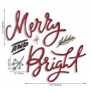 Sizzix Thinlits Die Set - Merry & Bright by Tim Holtz (6 dies)
