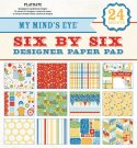 "My Minds Eye - 6"" x 6"" Playdate Paper Pad (24 sheets)"