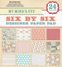 "My Minds Eye - 6"" x 6"" Quilting Bee Paper Pad (24 sheets)"