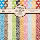 "BoBunny 12""x12"" Double-Sided Cardstock Pack - Double-Dot Damask (20 sheets)"