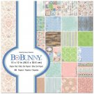 "BoBunny 12""x12"" Paper Pad - Butterfly Kisses (48 sheets)"