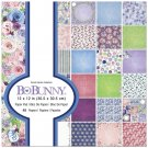 "BoBunny 12""x12"" Paper Pad - Secret Garden (48 sheets)"