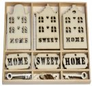 CraftEmotions Wooden Ornament Box - Home Sweet Home