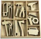 CraftEmotions Wooden Ornament Box - Tools