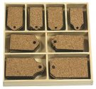 CraftEmotions Cork Ornament Box - Labels