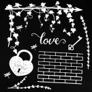 "49 & Market 6""x6"" Archival Chipboard - Love White"