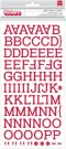 Kringle & Co. Thickers Alphabet Stickers - Glossy Chipboard Jingle/Crimson