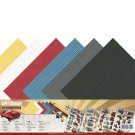 "Amy Design 12""x12"" Linen Paper Pad - Vintage Vehicles (12 sheets)"