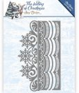 Amy Design Dies - The Feeling of Christmas Ice crystal border