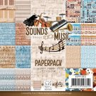 "Amy Design 6""x6"" Paper Pack - Sounds of Music (23 sheets)"