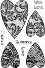 Woodware Clear Stamps - Lace Hearts