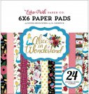 "Echo Park 6""x6"" Paper Pad - Alice In Wonderland (24 sheets)"