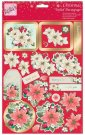 Anita's A4 Foiled Decoupage Sheet - Poinsettia