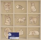 Aurelie Wooden Ornaments - Cats & Dogs