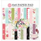 "Carta Bella 6""x6"" Double-Sided Paper Pad - Flora No. 3 (24 sheets)"