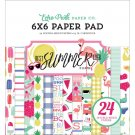 "Echo Park 6""x6"" Double-Sided Paper Pad - Best Summer Ever (24 sheets)"