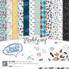"Elizabeth Craft ModaScrap 12""x12"" Paper Pack - Back To School (12 sheets)"