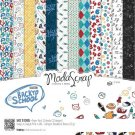 "Elizabeth Craft ModaScrap 6""x6"" Paper Pack - Back To School (12 sheets)"
