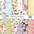 "Scrapboys 6""x6"" Paper Set - Butterfly Meadow (24 sheets+cut out elements)"