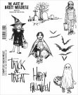 Stampers Anonymous Brett Weldele Cling Stamp Set - Trick Or Treaters