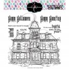 Colorado Craft Company 6x6 Clear Stamp Set - Haunted House Big & Bold
